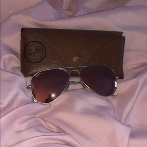 Ray Ban Pink and Silver Mirrored Sunglasses 55mm